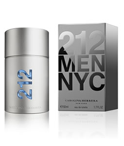 CAROLINA HERRERA 212 EDT FOR MEN
