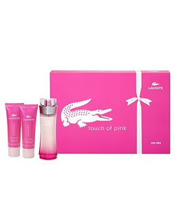 LACOSTE TOUCH OF PINK 3 PCS EDT GIFT SET FOR WOMEN