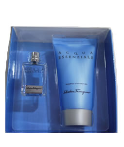SALVATORE FERRAGAMO ACQUA ESSENZIALE EDT MINI KIT 2 PIECES TRAVEL GIFT SET FOR MEN