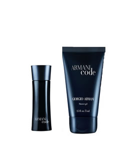 GIORGIO ARMANI ACQUA CODE EDT MINIATURE 2 PIECES TRAVEL GIFT SET FOR MEN