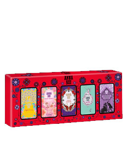 ANNA SUI 5 PCS MINIATURE GIFT SET FOR WOMEN