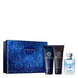 VERSACE POUR HOMME 3 PIECES GIFT SET FOR MEN