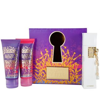 JUSTIN BIEBER THE KEY 3 PCS GIFT SET FOR WOMEN