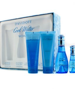 DAVIDOFF COOL WATER COFFRET 4PCS GIFT SET FOR WOMEN