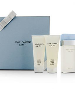 DOLCE & GABBANA LIGHT BLUE GIFT COFFRET 3PCS GIFT SET FOR WOMEN