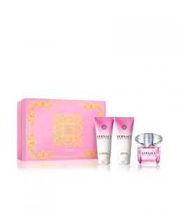 VERSACE BRIGHT CRYSTAL 3 PIECES GIFT SET FOR WOMEN