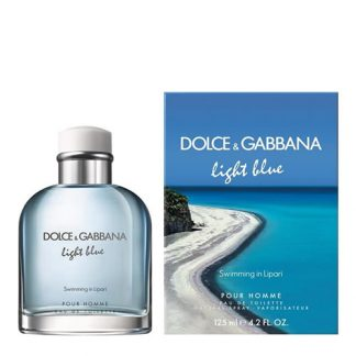 D&G DOLCE & GABBANA LIGHT BLUE SWIMMING IN LIPARI EDT FOR MEN