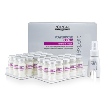 L'OREAL PROFESSIONNEL EXPERT SERIE - POWERDOSE COLOR SINGLE-DOSE RINSE OUT TREATMENT (FOR COLORED HAIR) 30X10ML/0.33OZ