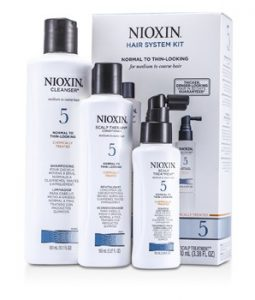 NIOXIN SYSTEM 5 KIT FOR MEDIUM TO COARSE & NORMAL TO THIN-LOOKING HAIR: CLEANSER 300ML + SCALP THERAPY 150ML + SCALP TREATMENT 100ML 3PCS