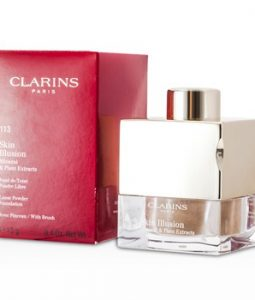 CLARINS SKIN ILLUSION MINERAL & PLANT EXTRACTS LOOSE POWDER FOUNDATION (WITH BRUSH) - # 113 CHESTNUT 13G/0.4OZ