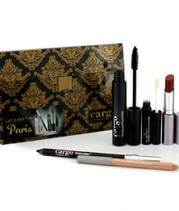CARGO LETS MEET IN PARIS HOLIDAY KIT: 1X LIP COLOR, 1X EYE PENCIL, 1X LIP PRIMER, 1X LIP LINER, 1X MASCARA 5PCS