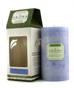 AROMA NATURALS AUTHENTIC AROMATHERAPY CANDLES - TRANQUILITY (LAVENDER) (2.75X5) INCH