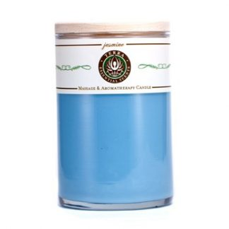 TERRA ESSENTIAL SCENTS MASSAGE & AROMATHERAPY CANDLE - JASMINE 12OZ