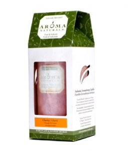 AROMA NATURALS AUTHENTIC AROMATHERAPY CANDLES - CLARITY (ORANGE & CEDAR) (2.75X5) INCH