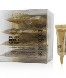 L'OREAL PROFESSIONNEL EXPERT SERIE - PRIMER REPAIR LIPIDIUM INSTANT RESURFACING CONCENTRATE (FOR VERY DAMAGED HAIR - RINSE OUT) 15X12ML/0.4OZ