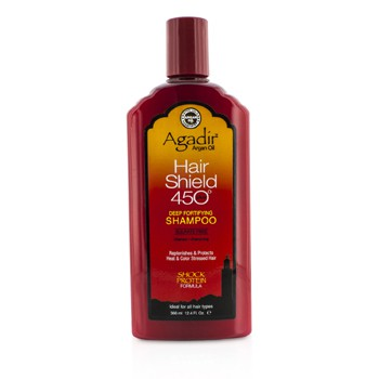 AGADIR ARGAN OIL HAIR SHIELD 450 PLUS DEEP FORTIFYING SHAMPOO - SULFATE FREE (FOR ALL HAIR TYPES) 366ML/12.4OZ