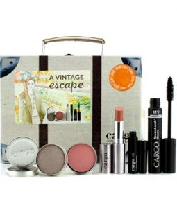 CARGO A VINTAGE ESCAPE SUITCASE KIT: 1XLIP COLOR, 1XEYESHADOW, 1XBLUSH, 1XLIP PRIMER, 1XMASCARA 5PCS