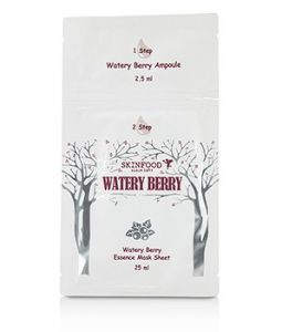 SKINFOOD WATERY BERRY AMPOULE + ESSENCE MASK SHEET 5X27.5ML/0.92OZ