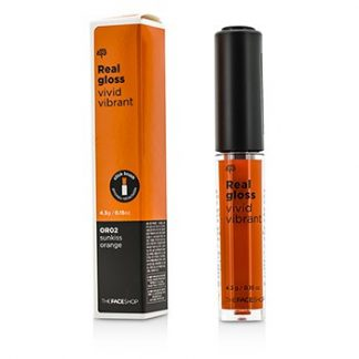 THE FACE SHOP REAL GLOSS VIVID VIBRANT - #OR02 SUNKISS ORANGE 4.3G/0.15OZ