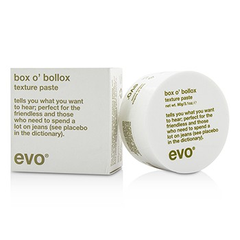 EVO BOX O BOLLOX TEXTURE PASTE (FOR ALL HAIR TYPES, ESPECIALLY SHORT, TEXTURED HAIRCUTS) 90G/3.1OZ