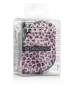 TANGLE TEEZER COMPACT STYLER ON-THE-GO DETANGLING HAIR BRUSH - # PINK KITTY 1PC
