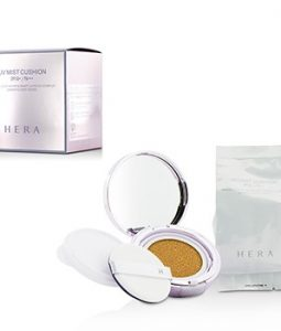 HERA UV MIST CUSHION MINERAL CLAY WATER & SMART LAYER UV COMPLEX SPF50 WITH EXTRA REFILL - #N23 2X15G/0.5OZ