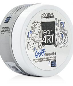 L'OREAL PROFESSIONNEL TECNI.ART STIFF POMMADE REPOSTIONABLE CREAMY PASTE (STRONG HOLD - FORCE 5) 75ML/2.5OZ