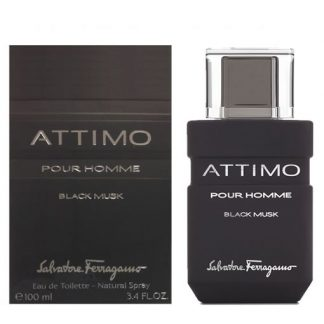 SALVATORE FERRAGAMO ATTIMO BLACK MUSK EDT FOR MEN