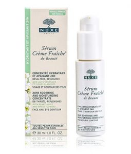 NUXE CREME FRAICHE DE BEAUTE SERUM 24HR SOOTHING AND MOISTURIZING CONCENTRATE FOR ALL SENSITIVE SKINS 30ML/1OZ