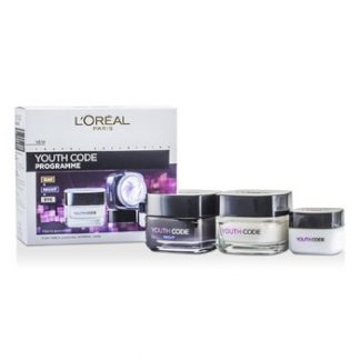 L'OREAL YOUTH CODE PROGRAMME (FOR TIRED-LOOKING, NORMAL SKIN): NIGHT CREAM 50ML + DAY CREAM 50ML + EYE CREAM 15ML 3PCS