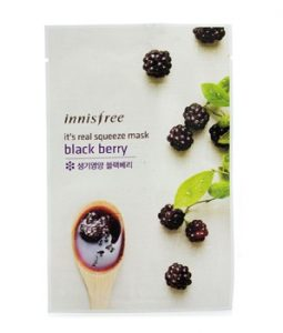 INNISFREE ITS REAL SQUEEZE MASK - BLACK BERRY 10PCS