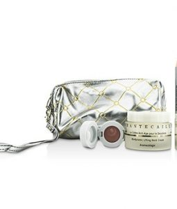 CHANTECAILLE SKIN CARE SET: NECK CREAM 50ML + LIP POTION 4.5G + CONTOUR FILL 2.5G + BAG 3PCS+1BAG