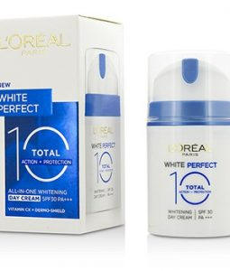L'OREAL WHITE PERFECT TOTAL 10 WHITENING DAY CREAM SPF 30 OK 50ML/1.69OZ