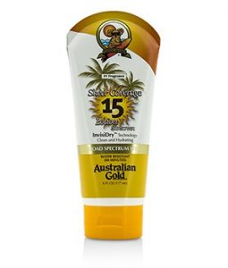AUSTRALIAN GOLD SHEER COVERAGE LOTION SUNSCREEN BROAD SPECTRUM SPF 15 177ML/6OZ