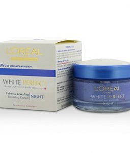 L'OREAL DERMO-EXPERTISE WHITE PERFECT SOOTHING CREAM NIGHT (MANUFACTURE DATE: 09/2013) 50ML/1.7OZ
