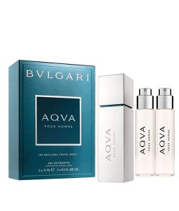 a33445f19d3c BVLGARI AQVA POUR HOMME THE REFILLABLE TRAVEL SPRAY GIFT SET FOR MEN