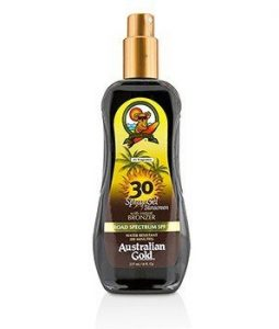 AUSTRALIAN GOLD SPRAY GEL SUNSCREEN BROAD SPECTRUM SPF 30 WITH INSTANT BRONZER 237ML/8OZ