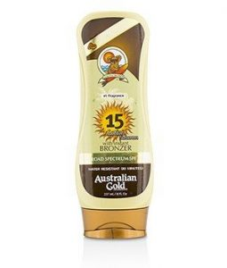 AUSTRALIAN GOLD LOTION SUNCREEN WITH BRONZERS SPF 15 237ML/8OZ
