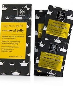 APIVITA EXPRESS GOLD FIRMING & REGENRATING MASK WITH ROYAL JELLY (BOX SLIGHTLY DAMAGED) 6X(2X8ML)