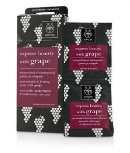 APIVITA EXPRESS BEAUTY ANTI-WRINKLE & FIRMING MASK WITH GRAPE (BOX SLIGHTLY DAMAGED) 6X(2X8ML)