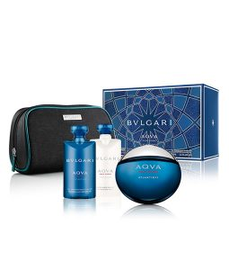 BVLGARI AQVA POUR HOMME ATLANTIQVE 4 PCS GIFT SET FOR MEN