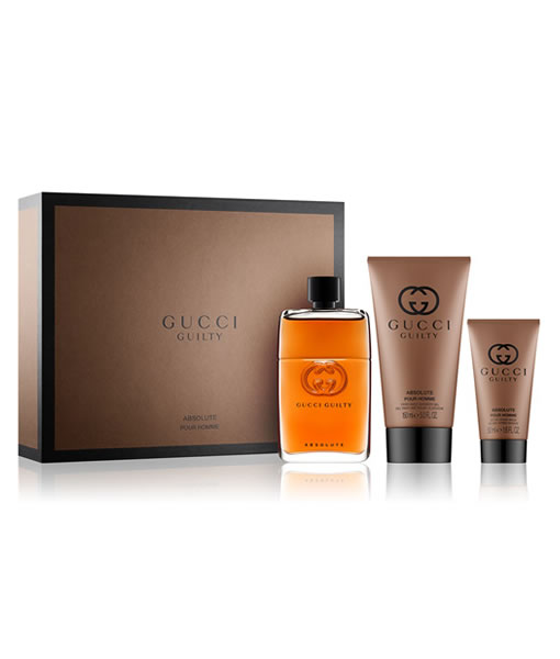 ec802279a GUCCI GUILTY ABSOLUTE POUR HOMME 3 PCS GIFT SET FOR MEN PerfumeStore ...