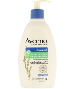 AVEENO, ACTIVE NATURALS, SKIN RELIEF, GENTLE SCENT LOTION, SOOTHING OAT AND CHAMOMILE, 12 FL OZ / 354ml