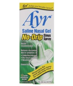 AYR, SALINE NASAL GEL, NO-DRIP SINUS SPRAY, 0.75 FL OZ / 22ml