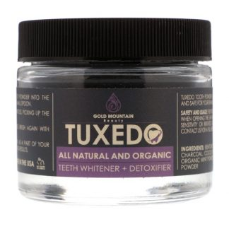 GOLD MOUNTAIN BEAUTY, TUXEDO, ALL NATURAL AND ORGANIC TEETH WHITENER + DETOXIFIER, 32 G