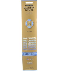 GONESH, EXTRA RICH INCENSE STICKS, NAG CHAMPA, 20 STICKS