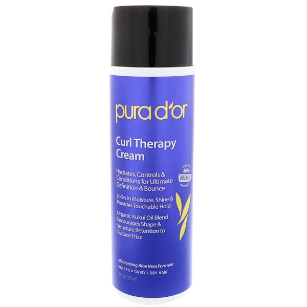 PURA D'OR, CURL THERAPY CREAM, 8 FL OZ / 237ml
