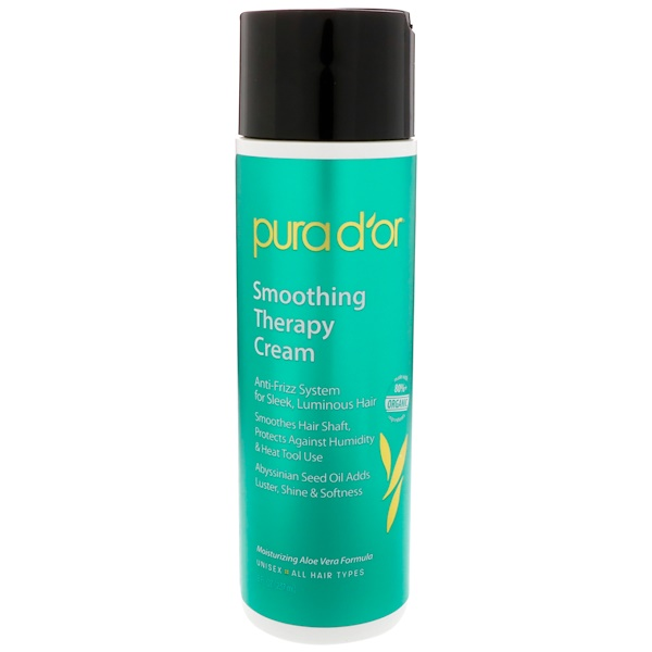 PURA D'OR, SMOOTHING THERAPY CREAM, 8 FL OZ / 237ml
