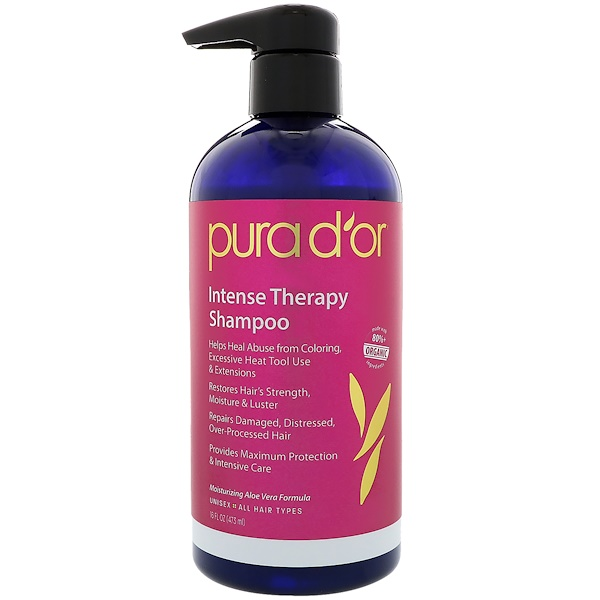 PURA D'OR, INTENSE THERAPY SHAMPOO, 16 FL OZ / 473ml