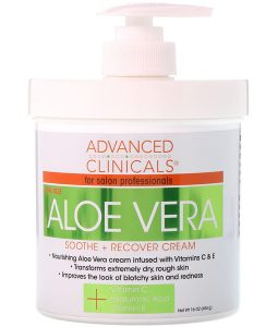 ADVANCED CLINICALS, SOOTHE + RECOVER CREAM, ALOE VERA, 16 OZ / 454g
